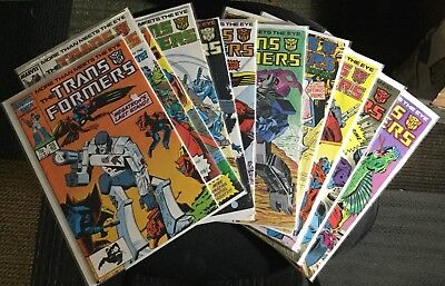 Transformers Comic Lot (11 Marvel Issues)