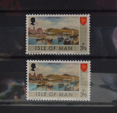 Isle of Man 1973 3½p Stamp With Border Colour Error
