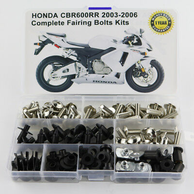 Complete Fairing Bolts Screws Fasteners For 2003-2006 Honda CBR600RR 2004 2005