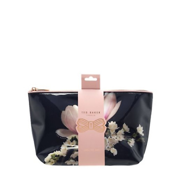 Ted Baker Ladies Floral Large PVC Cosmetic Make Up Beauty Wash Bag Valentines