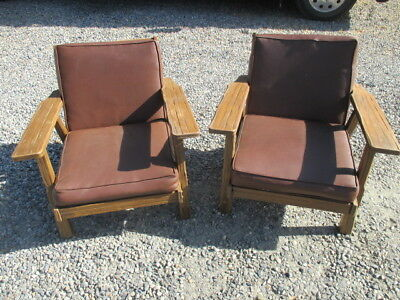 Mid Century Ranch Rustic A. Brandt Ranch Oak Mission Style Arm Chair Multiples