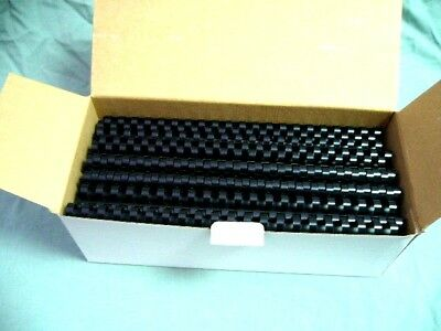 Plastic Binding Combs Black 14 mm 21 Rings Box of 100 Bind Comb Spines C14B