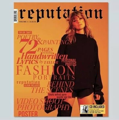 Taylor Swift Reputation Volume 1 CD and Magazine Target Deluxe Edition Sealed