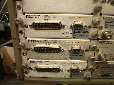 HP 35650 Signal Analyzer Mainframe w/ 4 x 35655A- 2x 35656B-35651B-