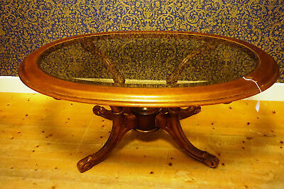 Antik Biedermeier Empire Esszimmer Tisch Glas Tafel Massiv Old Rare table 125cm
