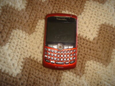 Vintage Red Blackberry T-Mobile Phone  Pre-owned