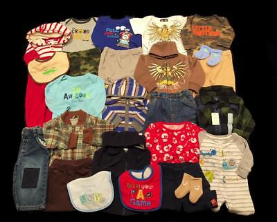 Baby Boy 0-3 months 3-6 Carter's GAP 1pc NWT oufits + Little Brother Clothes Lot