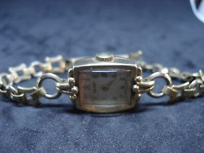 Vintage Ladies Hallmarked 9Ct Gold Rotart Watch