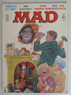 MAD Magazine - UK Issue No: 224 Dec 1980 - Merry Christmas UK EDITION