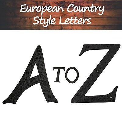 "A-Z 6"" Tall High Quality Solid Iron Large Metal House Address Letters (830A-Z)"