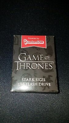 Game Of Thrones HBO House Stark Sigil 4gb USB Flash Drive Loot Crate New in Box