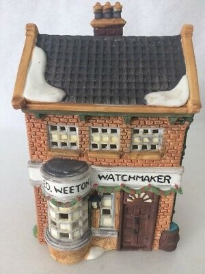 DEPT 56  Geo Weeton Watchmaker Lighted Building # 5926-9 1988 Retired