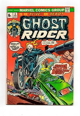 GHOST RIDER #4  (Vol1 1974) Johnny blaze Marvel comic
