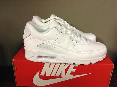 premium selection 6a087 00a55 Nike Air Max 90 Leather Triple White Men s 302519 113 NEW