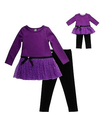 "Dollie Me Girl 10-14 and 18"" Doll Matching Ruffled Tunic Outfit ft American Girl"