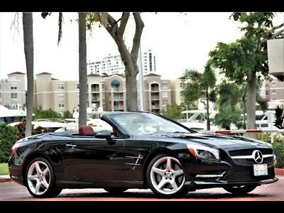 """2014 SL-Class SL 550 5K Miles BLACK ONLY 5K MILES ONE OWNER RED LEATHER PANORAMIC ROOF 19"""" AMG WHEELS"""