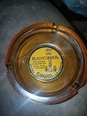 Vintage Don the Beachcomber SAHARA Hotel and Casino Ashtray Las Vegas NV Nevada