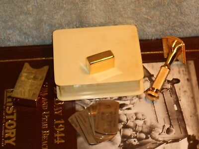 1918 Gillette Refurbished Re-Plated Milady Decolletee Set