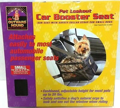 Outward Hound Pet Lookout Car Booster Seat Up To 20 Lbs For Small Dogs