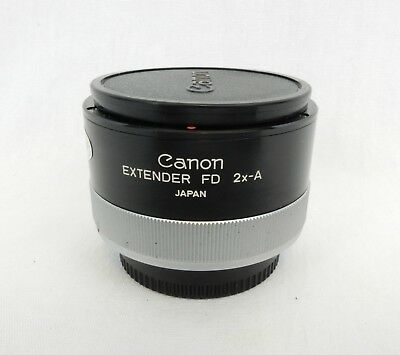 Canon Extender Fd 2x-A Converter Lens With Both Lens Caps Japan