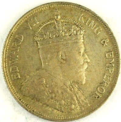 1908 Straits Settlements 50 Cents, No Reserve, Malaysia