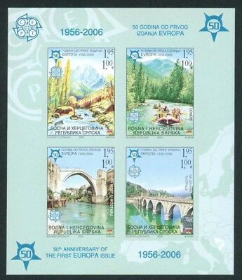 Bosnia and Herzegovina 2005' EUROPA CEPT stamps 1956-2006,Block, imperf,MNH