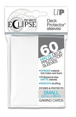 Ultra PRO SMALL Eclipse Matte Deck Protector Sleeves Card WHITE 60ct 62 x 89mm