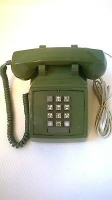 *Vintage Rare '70s ITT Western Electric*Green*Push Button Phone* Works Great!