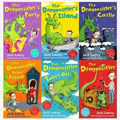The Dragonsitter series Josh Lacey Collection 6 Books Bundle The Dragonsitters