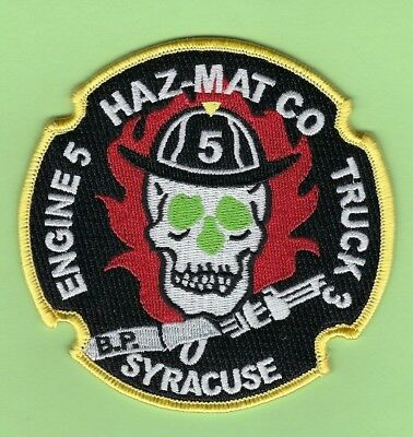 Syracuse Fire Department Engine 5/Truck 3/Haz-Mat Company Patch ~ New York