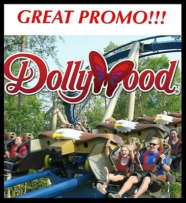DOLLYWOOD + SPLASH COUNTRY Tickets Admission Promo Discount SAVINGS ~ BEST DEAL!