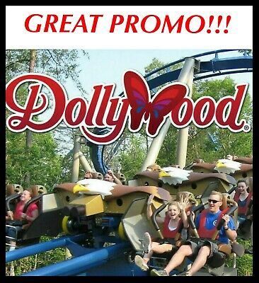 DOLLYWOOD THEME PARK Tickets Promo Discount ~ GREAT SAVINGS ~ 1 OR 3 DAYS