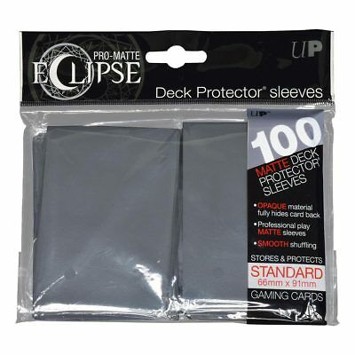 Ultra PRO Eclipse Deck Protector Sleeves Matte Grey Standard 100ct 66 x 91mm