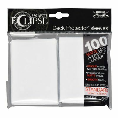 Ultra PRO Eclipse Deck Protector Sleeves Matte White Standard 100ct 66 x 91mm