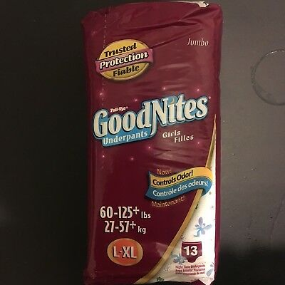 Vintage goodNites Whole PackageRare 2005 Fairy Girls Goodnites XL