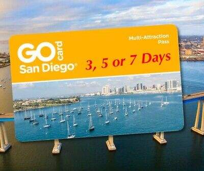 SEAWORLD GO SAN DIEGO CARD PASS TICKETS A PROMO DISCOUNT TOOL DEAL 3 5 or 7 DAYS