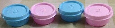 Tupperware Smidgets Set Of 4 In 2 Colors- New -Free Shipping.