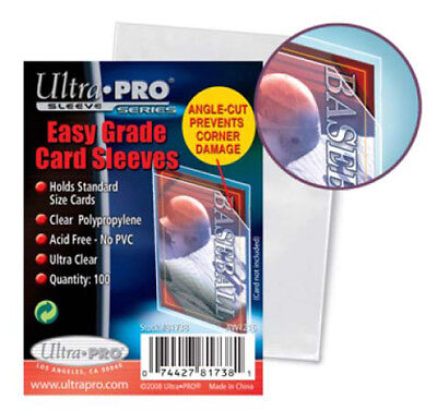 Ultra PRO Easy Grade Card Sleeves Standard Size Protectors Clear 100ct Angle-Cut