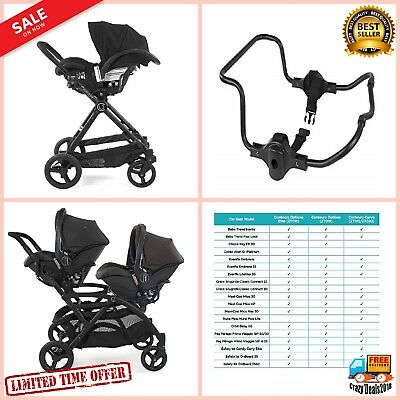 Infant Baby Car Seat Adapter for Contours Single Double Strollers Chicco KeyFit