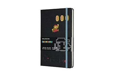 Moleskine Notebook Super Mario Mario in Motion Black Large Ruled 5 X 8.25