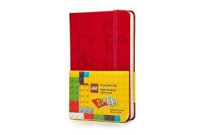 Moleskine Lego Notebook II Pocket Ruled Scarlet Red Hard Cover 3.5 X 5.5
