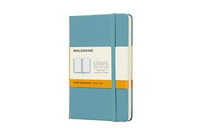 Moleskine Classic Notebook Pocket Ruled Blue Reef Hard Cover 3.5 X 5.5