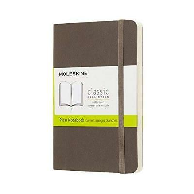 Moleskine Classic Notebook Pocket Plain Brown Earth Soft Cover 3.5 X 5.5