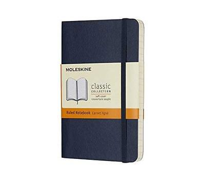 Moleskine Classic Notebook Pocket Ruled Sapphire Blue Soft Cover 3.5 X 5.5
