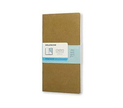 Moleskine Chapters Journal Slim Pocket Dotted Tawny Olive Soft Cover 3 X 5.5