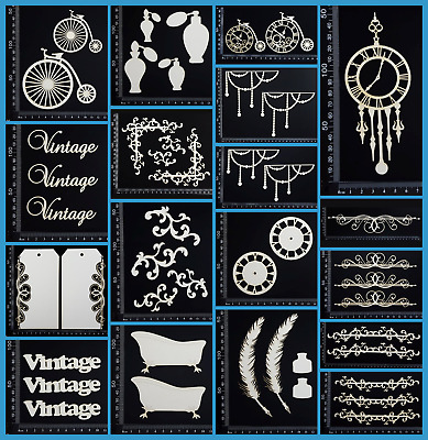 White Chipboard - Vintage - Collection Two