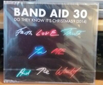 Band Aid- Do They Know It's Christmas 30  2014 NEW SEALED CD SINGLE H6
