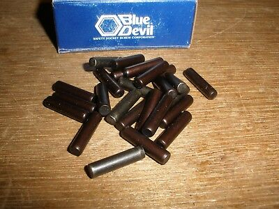 "3/16"" X 3/4"" Dowel Pins Blue Devil Black Oxide Ebony Finish USA Made (Qty.25)"