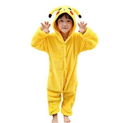 JunYito Girls Boys Adults Pyjamas Flannel Animal Costume Clothes Cosplay Pikachu