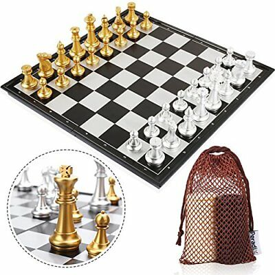 Peradix Deluxe Chess Set with Board include Draughts Pieces - A Chess and Checke